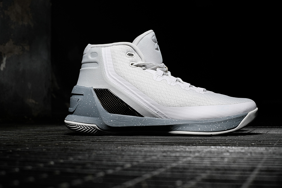 low priced 0d2f1 87748 The shoe features Threadborne fabric, executed in clean white and inspired  by the rugged fibre materials found in parachutes, known as paracord.