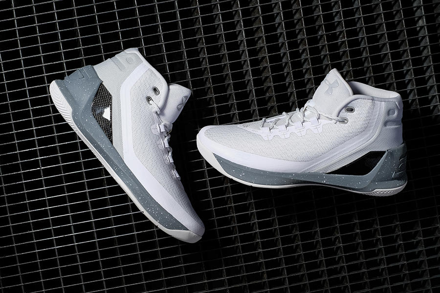 sports shoes b608a 78d89 Under Armour Curry 3 – White and Grey colorway