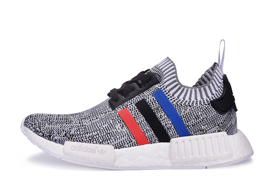 adidas NMD R1 Primeknit White Core Red Core Black