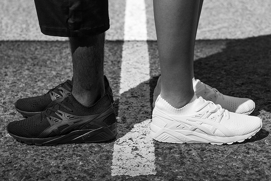 new concept 0280a 9ec34 ASICS Tiger Gel-Kayano Trainer Knit Drops in Black and White ...