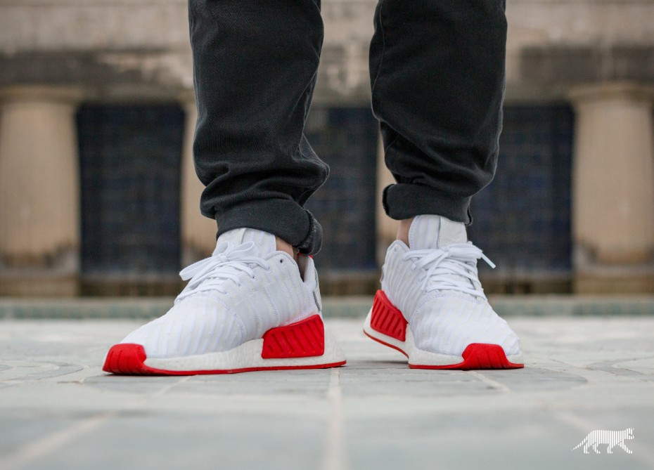 adidas nmd white core red