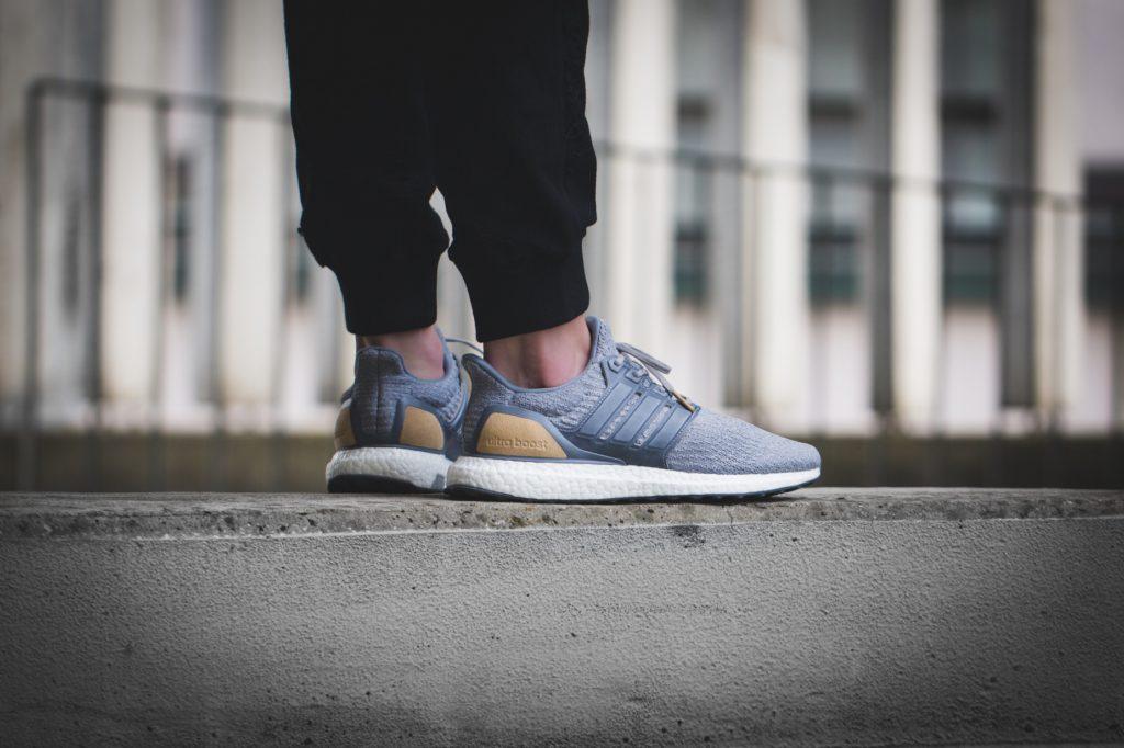 Adidas Ultraboost 3.0 LTD (Grey Leather Cage) ON Feet