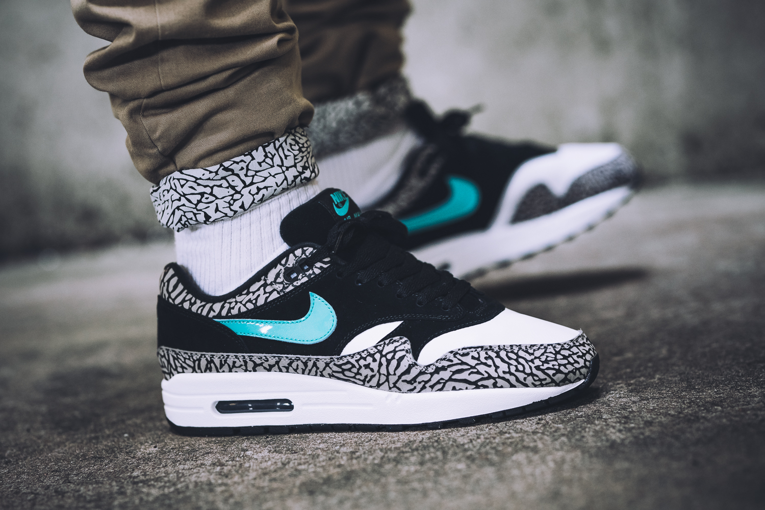312748 031 Premium Atmos Elephant Safari Nike Air Max 1 Mens