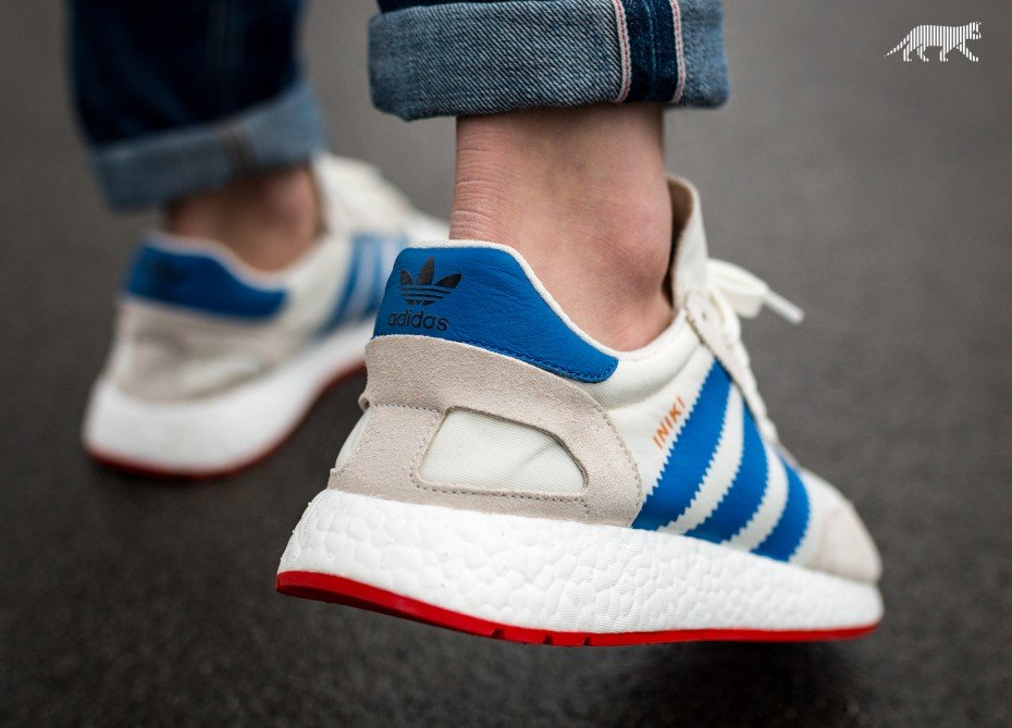 low priced e0f40 2d550 ... Iniki Runner (OFF WHITE  BLUE   CORE RED –BB2093) – April 20th via  Asphaltgold and other stores. On Feet Look (pics by Asphaltgold)