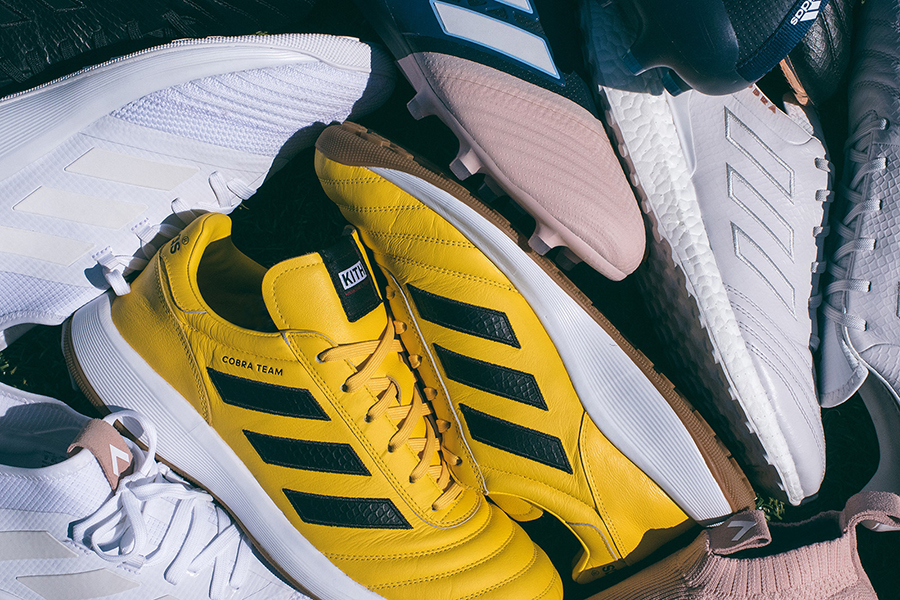 "best sneakers 2b558 2b833 KITH x adidas Football ""Cobra"" Collection"