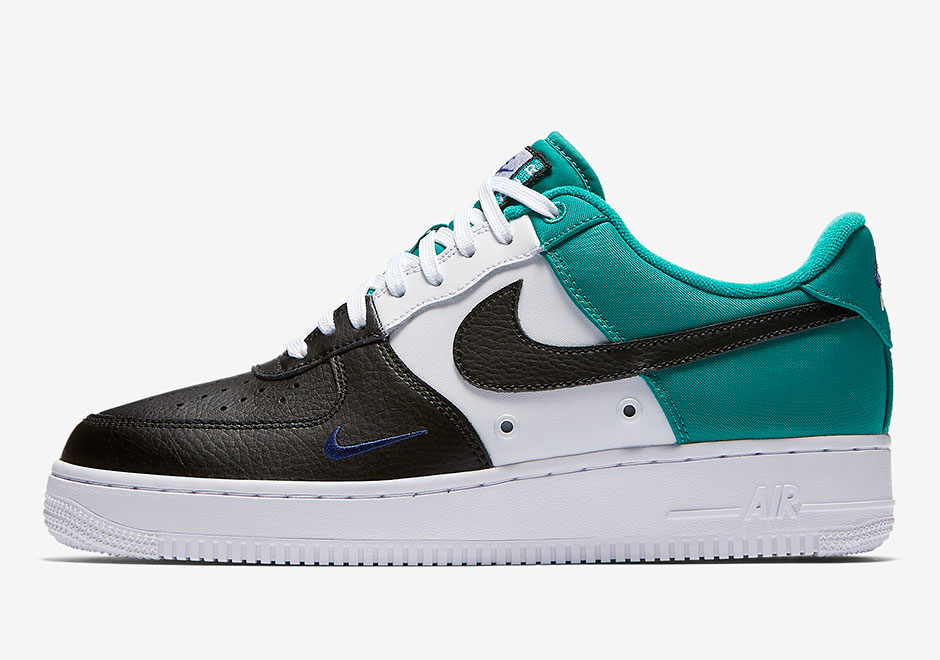 air force 1 black and blue