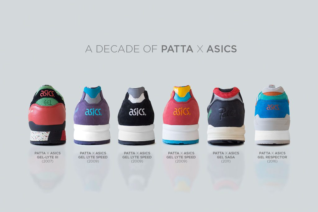 10 Years of Patta Amsterdam X Asics Collabs