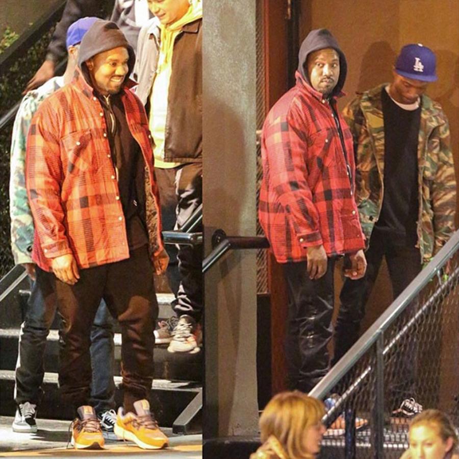 Kanye West trägt ein Paar Karhu Fusion 2.0 'Mount Pallas Caramel'