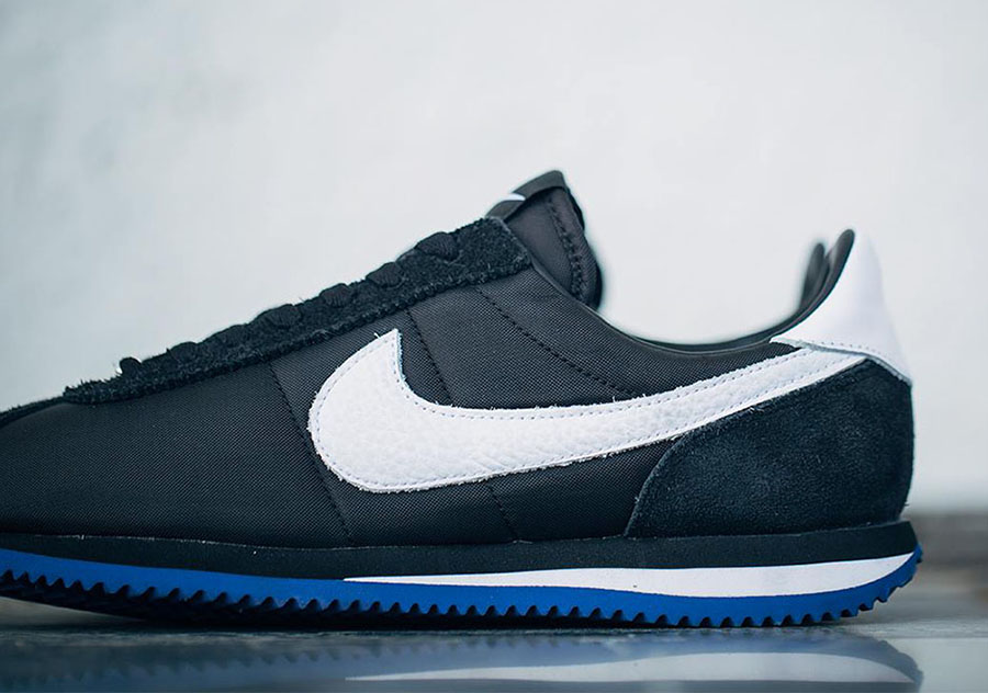 """b76cc092fff The UNDFTD x NikeLab Cortez SP """"LA"""" featured a black nylon and suede upper  with white supplemented by Dodger-blue accents. The letters """"L"""" and """"A"""" on  ..."""