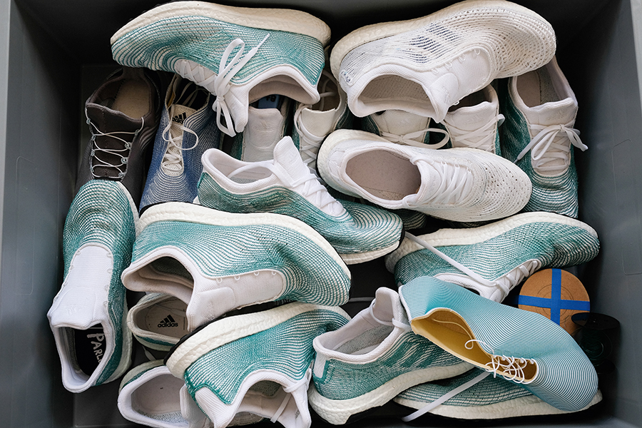 new product 8e0f4 66ac3 A whole box of adidas X Parley prototypes.