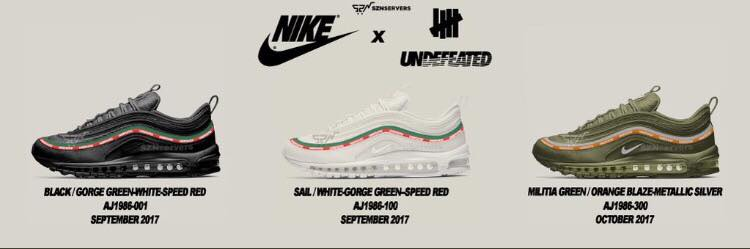 big sale e210a 5056e The 20th anniversary of the Air Max 97 is getting more serious! As several  pics just emerged, it seems as if UNDEFEATED and Nike are officially  teaming up ...