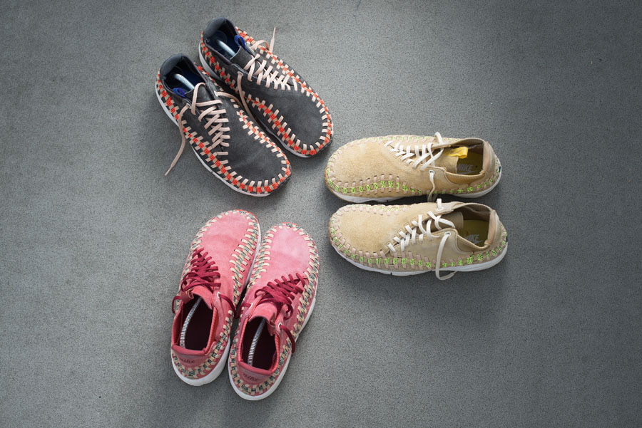 Nike Footscape collector Maik Lojewski - Woven Chukka (Midnight Stadium, Red Reef and Coral Reef)