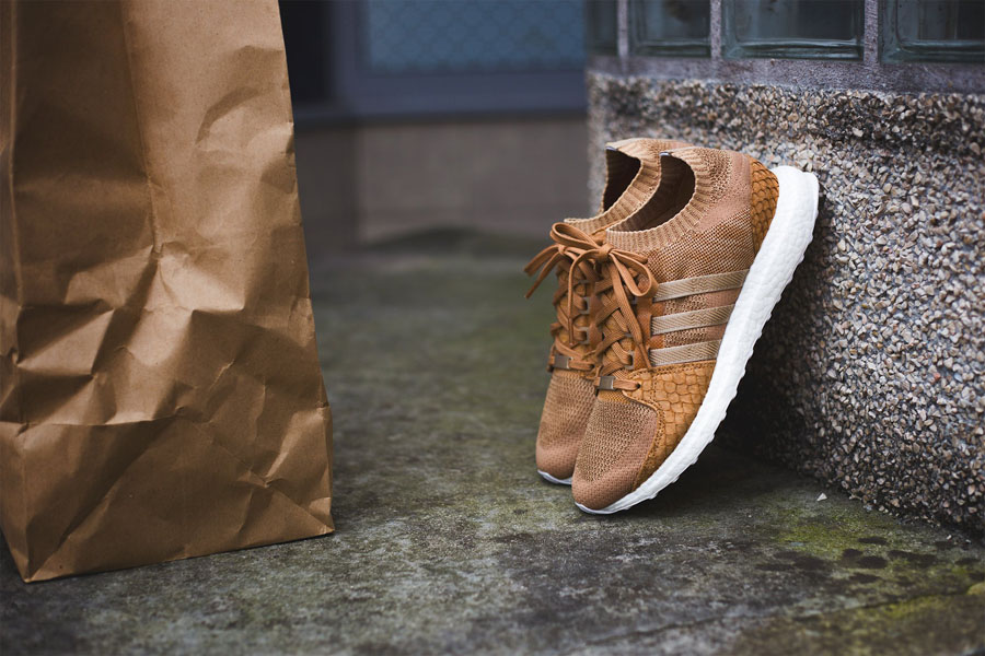 detailed look 5a860 f6f73 Pusha T x adidas EQT Support Ultra PK Brown Paper Bag (Standing)