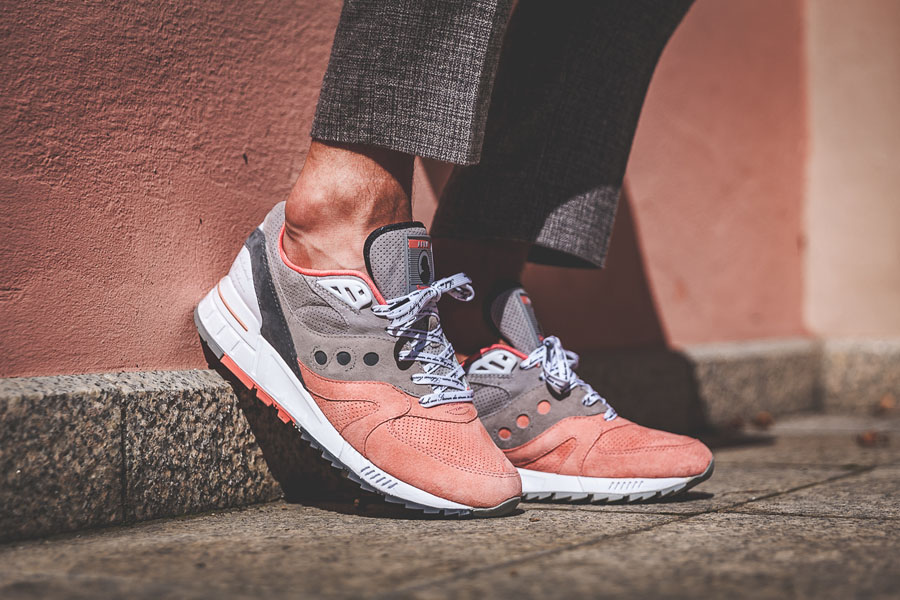 Afew x Saucony Shadow Master 5000 'Goethe' - Museum wall on feet