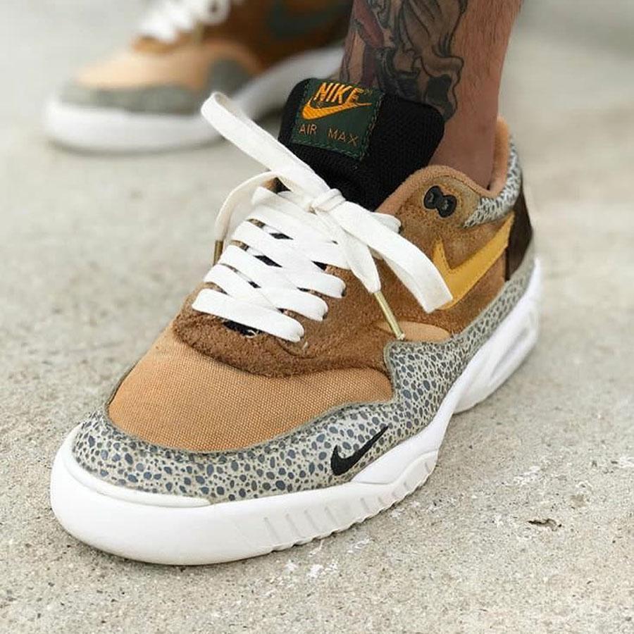 Sneaker Sole Swap - Nike Air Max 1 Safari and Air Tech Challenge 3
