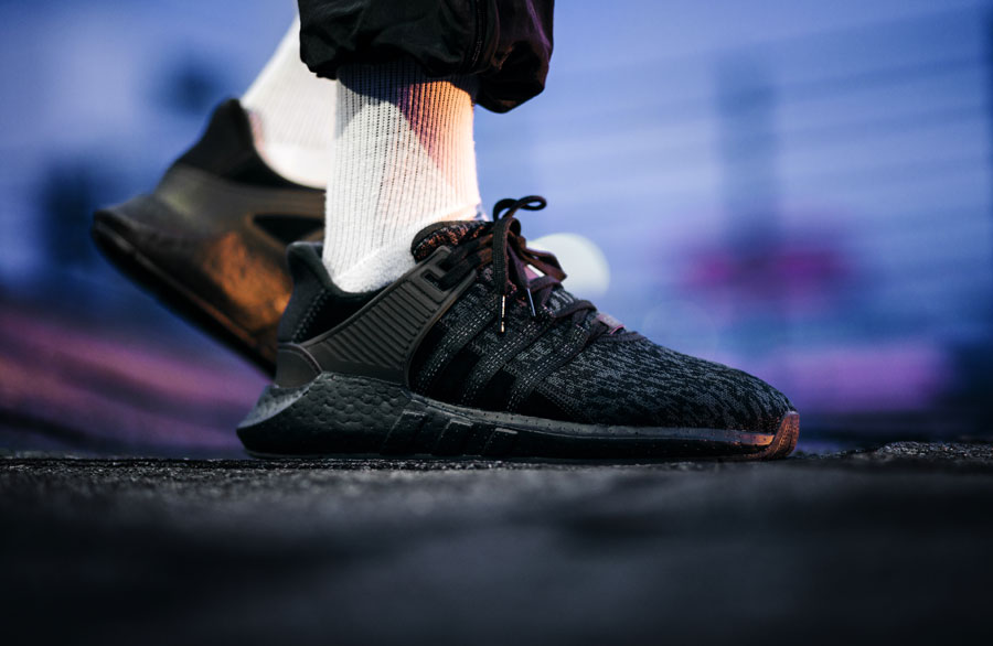 meet 421f7 33bbd adidas EQT Black Friday Pack - Support 93 17 (On feet)