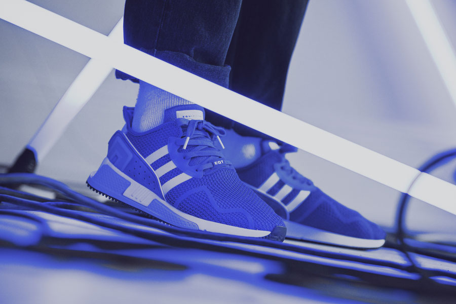 adidas EQT Cushion ADV Blue 95 - Collegiate Navy (On feet)