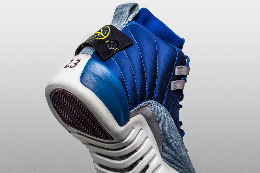 Drake Stone Island Air Jordan 12 Custom (Back)