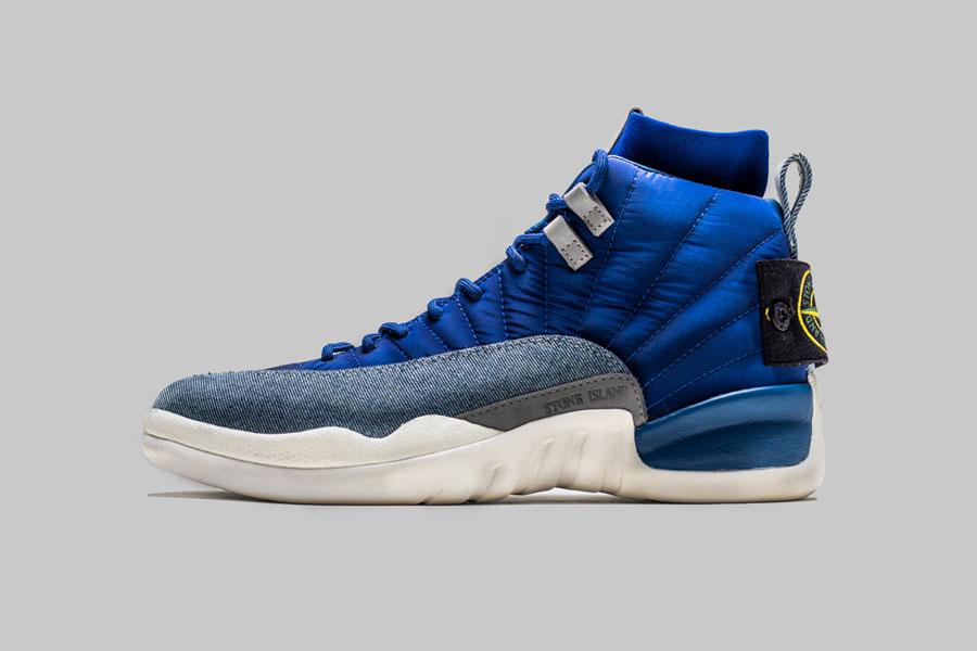 Drake Stone Island Air Jordan 12 Custom (Side)