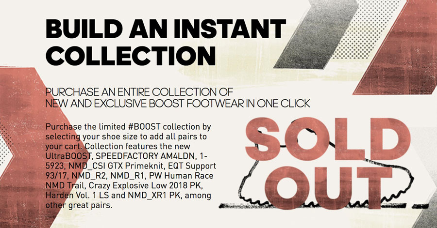 adidas BOOST Collection (Sold Out)
