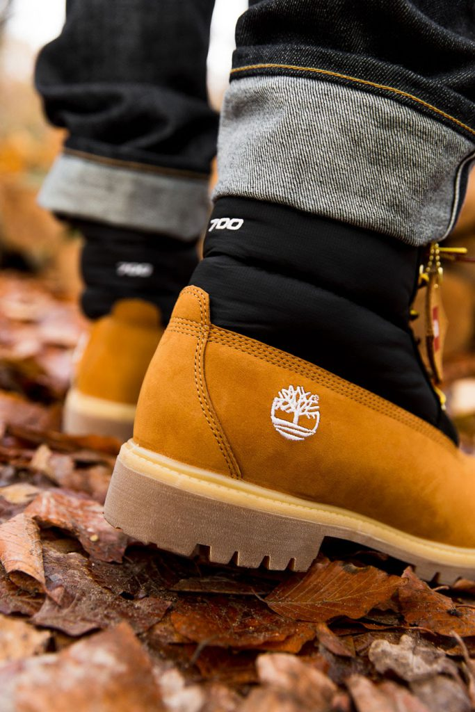 Timberland x The North Face 6 Inch Nuptse Boot - Back (On feet)
