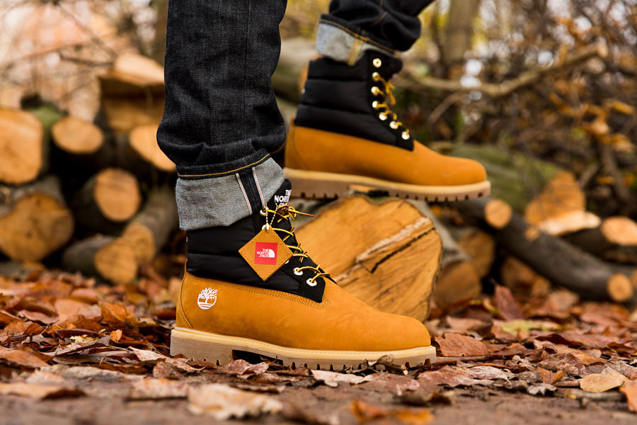 Timberland x The North Face 6 Inch Nuptse Boot (On feet)