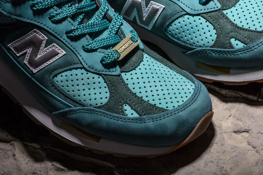 CONCEPTS x New Balance 991.5 Lake Havasu - Toebox