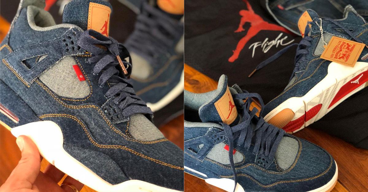 d44f28053e40aa Levis x Nike Air Jordan 4