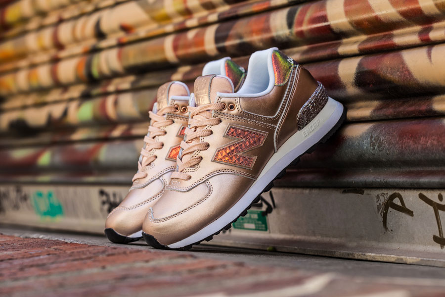 new balance 574 glitter punk rose gold