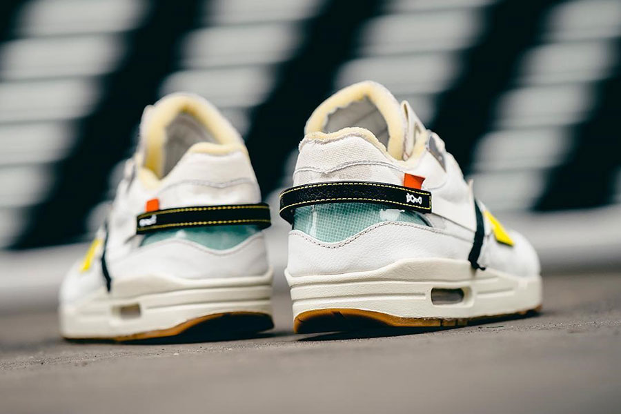 b779f8cc67ee43 Nike Air Max 1 OFF-WHITE Custom by Bespoke IND - Back