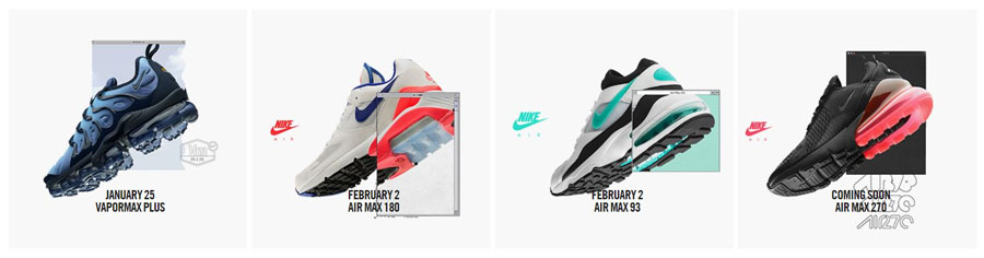 Nike Air Max Day 2018 - January and February Releases