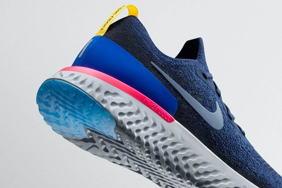 Nike Epic React Flyknit - Blue (Heel)