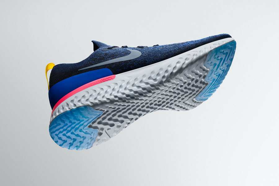 Nike Epic React Flyknit - Blue (Sole)