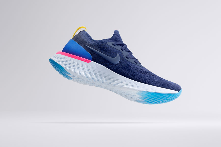 Nike Epic React Flyknit - Blue