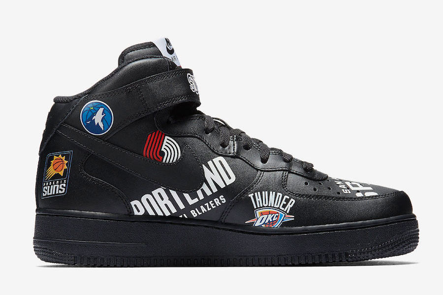 Supreme x Nike Air Force 1 Mid 07 NBA (Black) - Right