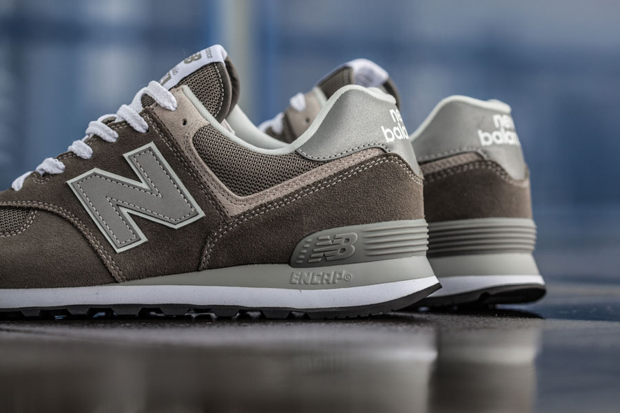 New Balance 574 Classic Grey ML574EGG - Heel