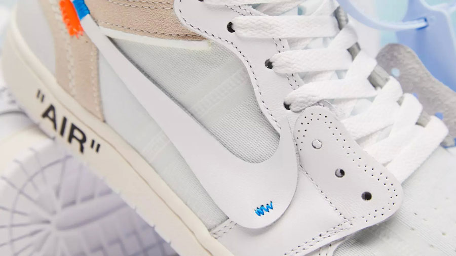 OFF-WHITE x Air Jordan 1 White (AQ0818-100) - Swoosh