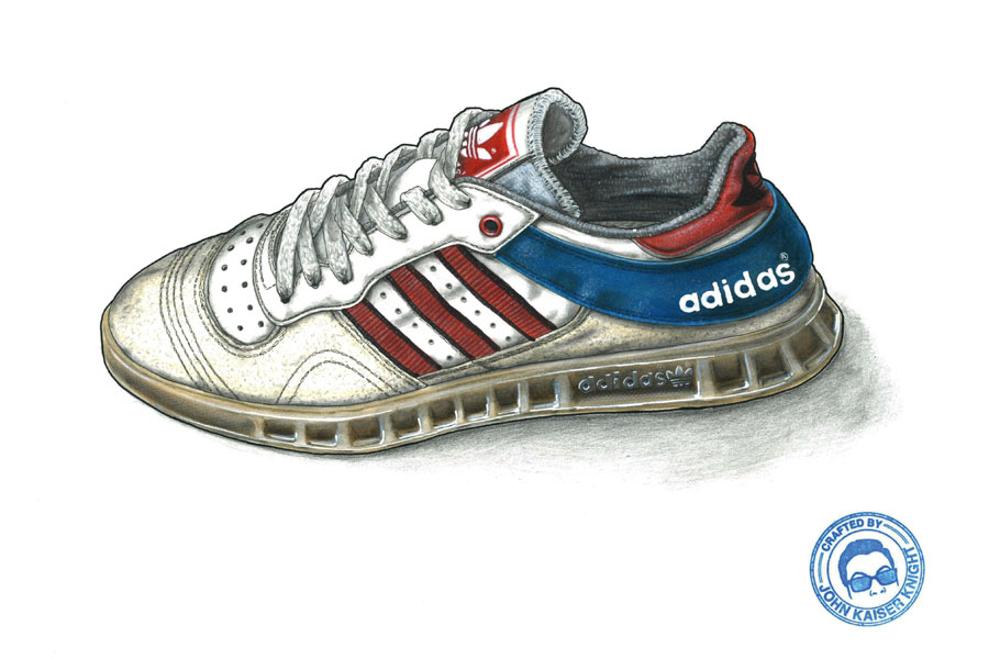 Sneaker Illustrations John Kaiser Knight - adidas Handball Top
