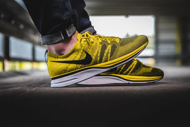 Sneakers for Less Than 100 € - NikeLab Flyknit Trainer Citron (Side)