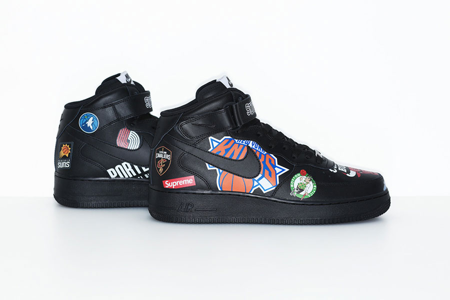 Supreme x Nike Air Force 1 Mid 07 NBA (AQ8017-001) - Black (Right)
