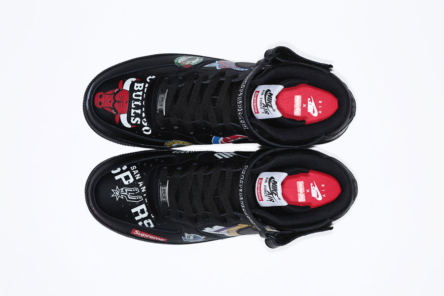 Supreme x Nike Air Force 1 Mid 07 NBA (AQ8017-001) - Black (Top)