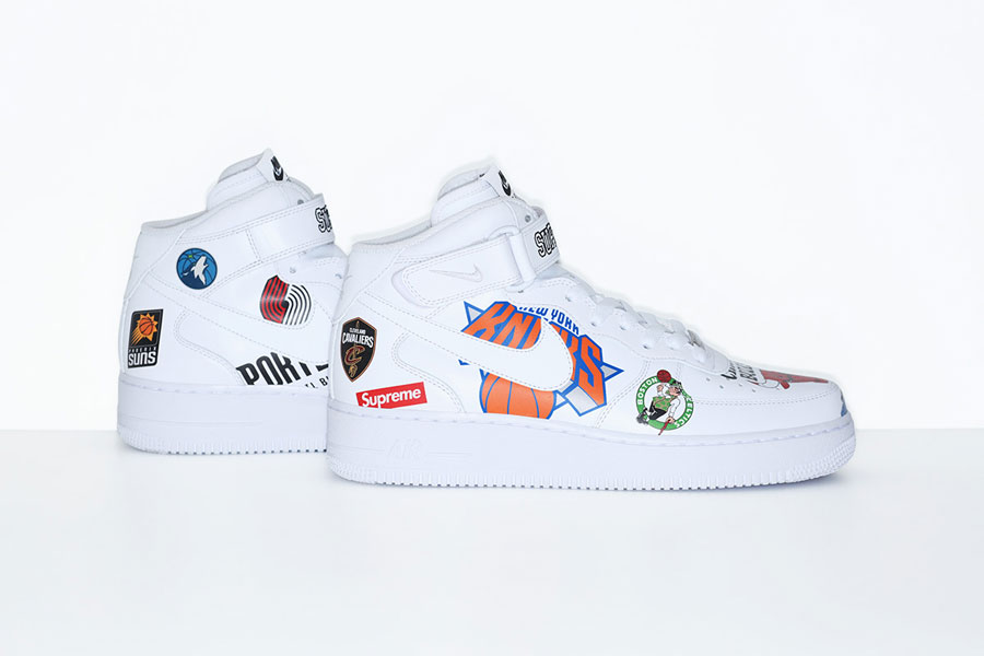 new arrival 202d7 e54fe Supreme x Nike Air Force 1 Mid 07 NBA (AQ8017-100) - White