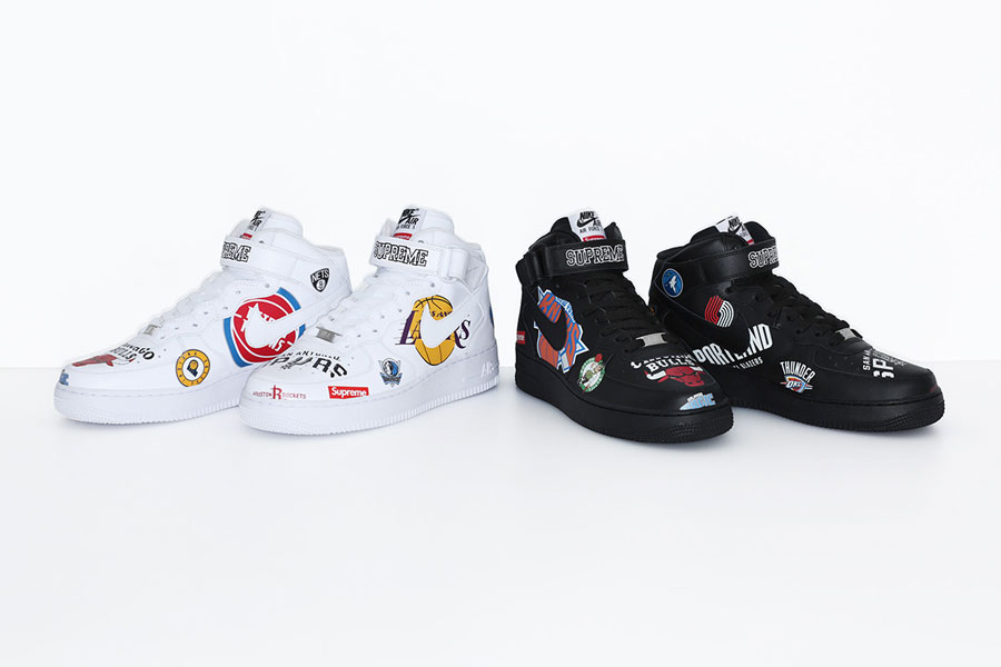 online store efb7d 10183 Supreme x Nike Air Force 1 Mid '07 NBA (Mock-Up) | Sneakers ...