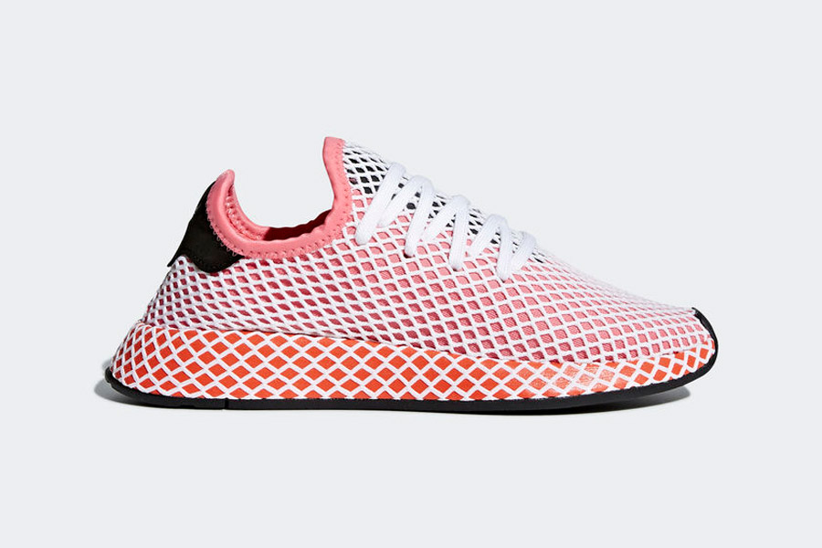 adidas Deerupt (CQ2910 Chalk Pink Bold Orange) - Side