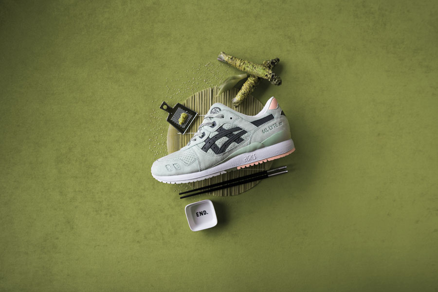 END x ASICS GEL-LYTE III Wasabi - Left