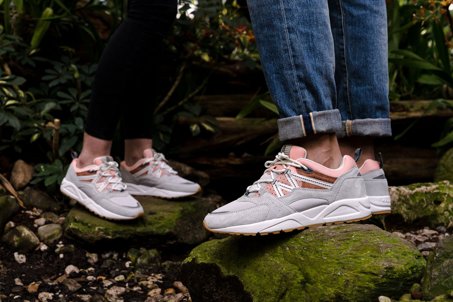 Karhu Linnut Pack Fusion 2 0 (F804029 - Lunar Rock Muted Clay) - On feet