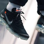OFF-WHITE x Nike Air VaporMax Flyknit (AA3831-002) - On feet (Side)