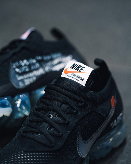 OFF-WHITE x Nike Air VaporMax Flyknit (AA3831-002) - Tongue