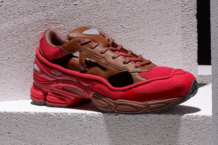 Raf Simons x adidas Ozweego Replicant (B22513 Scarlet Red Dust Rust)