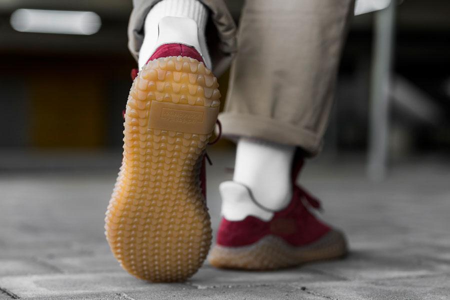 adidas Kamanda Collegiate Burgundy (CQ2219) - On feet (Sole)
